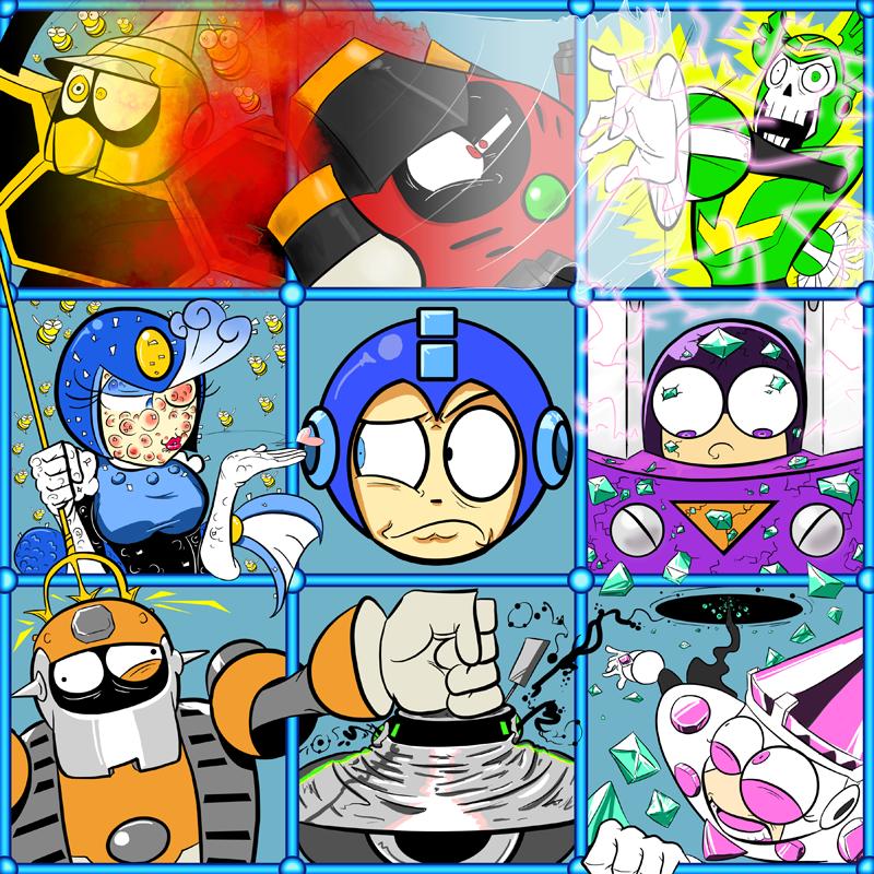 The Megaman 9 Bunch By Cybermoonstudios On Deviantart