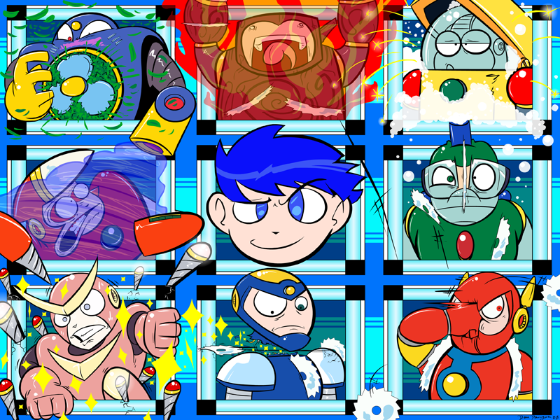 The Mega Man 2 Troop by CyberMoonStudios