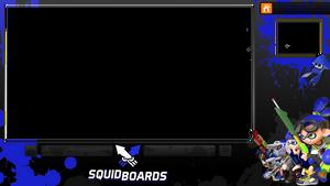 Splatoon Video Overlay (Blue)