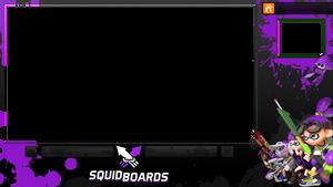 Splatoon Video Overlay (Purple)