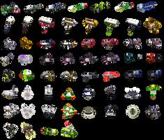 Splatoon weapon icons by SimpleDerk