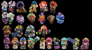 Splatoon Character Icons by SimpleDerk