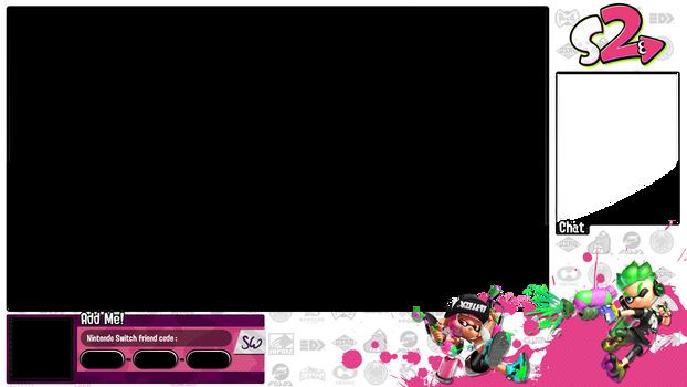 Splatoon 2 white and pink overlay