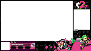 Splatoon 2 black and pink overlay