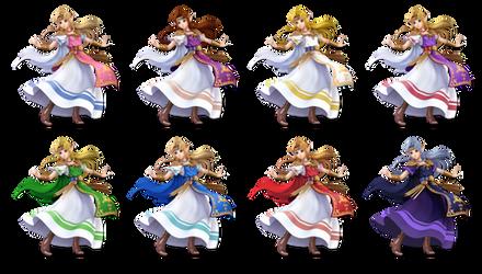 SSBU Zelda 8 skin recolors