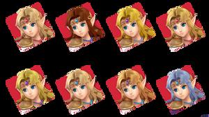 SSBU Zelda Stock Icons