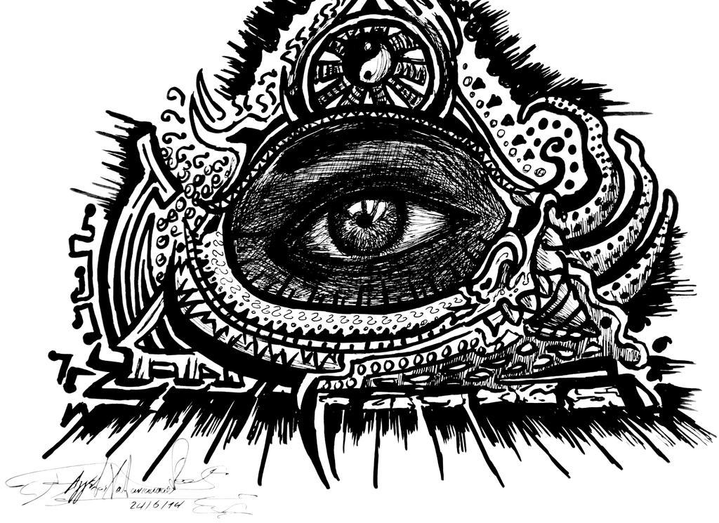 All Seeing Eye Art By GrodAngelo