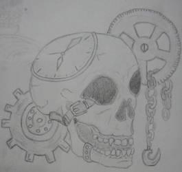 Steam Punk Skull by NocturnalHouse