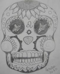 Leo Zodiac Skull Version 1 by NocturnalHouse