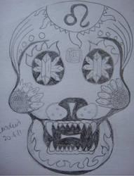 Leo Zodiac Skull Version 3 by NocturnalHouse