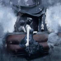 Jeremy Mann Study - Lament by Hal-Wayland