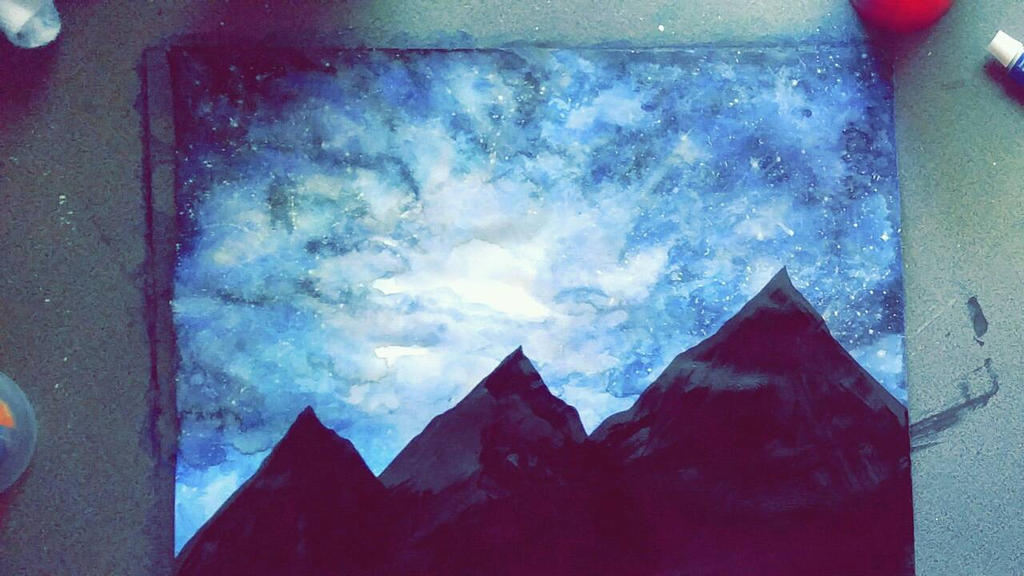 Mountains and space by volaciousdreams