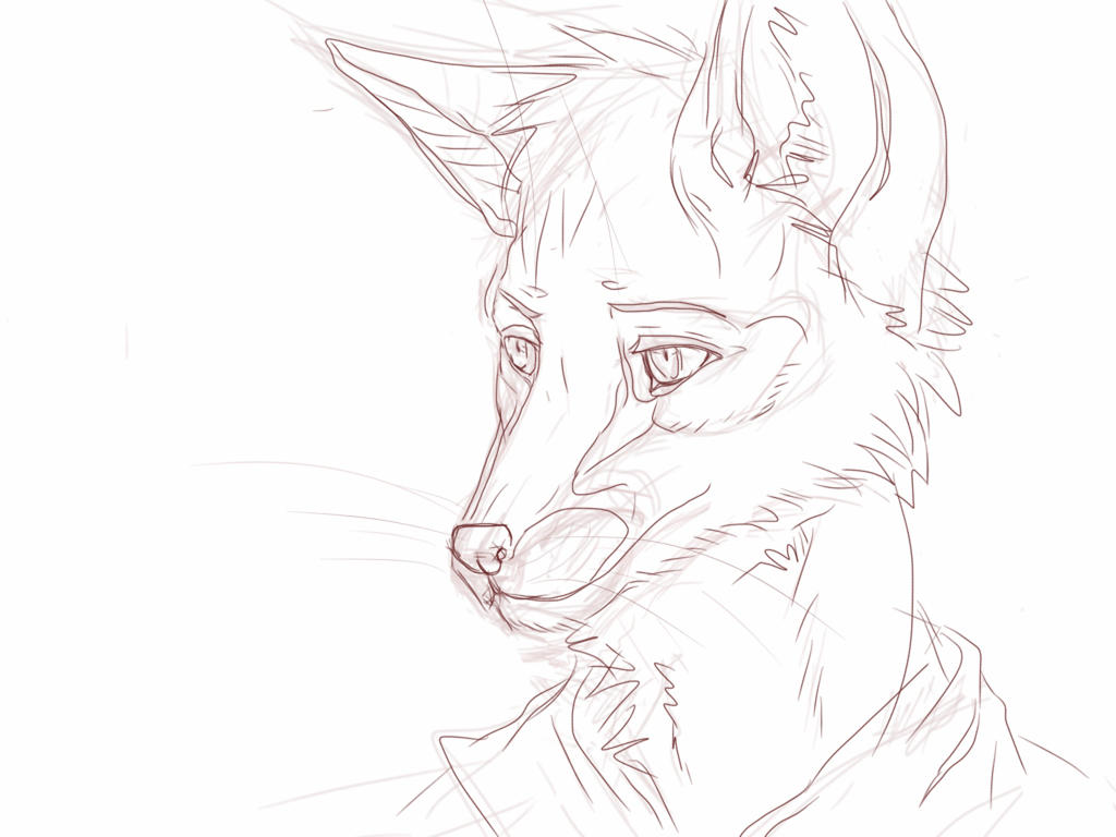 Random furry fox portrait by El-Ricado