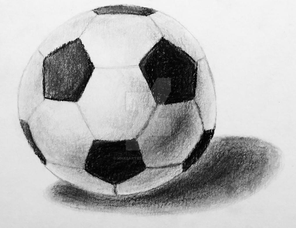 Soccer Ball Graphite Pencil by MakeArtReal on DeviantArt