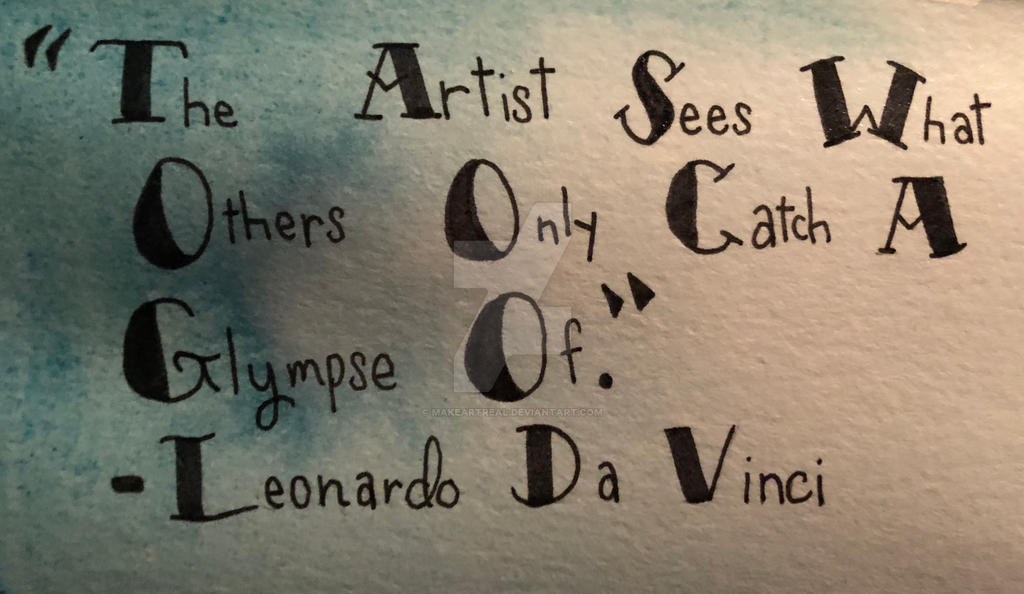 Leonardo Da Vinci Quote By Makeartreal On Deviantart