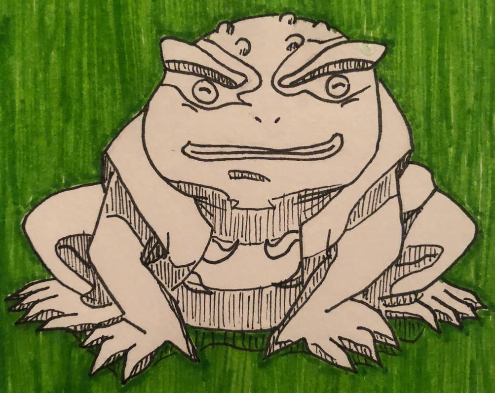 Gamakichi- Naruto Fan Art (Inktober Day 26) by MakeArtReal