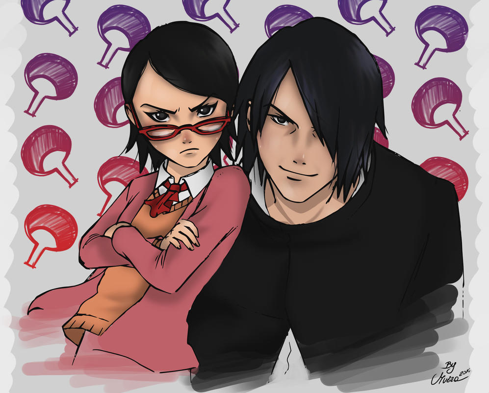 Sarada and Sasuke by MuzzaThePerv