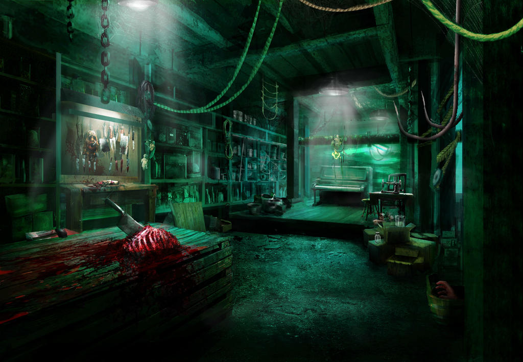 horror basement by danielclasquin on deviantart
