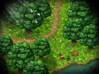 RPG Maker: Parallax Forest Map by Zachfoss