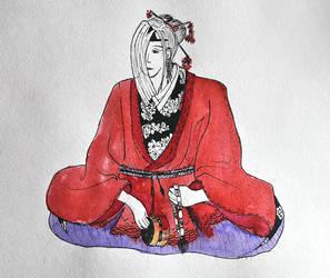 Akechi Mitsuhide no yurei. by Nadeshiko-Haruchene