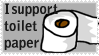 I support toilet paper stamp by aguzzla22
