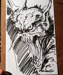 Vampire bat by darkskythe1979