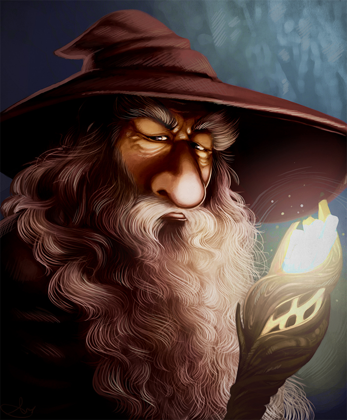 Digital Paint - Gandalf Coloured by starinthegutter
