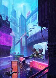 CyberpunkCity | Shredder TMNT by Kawari-l