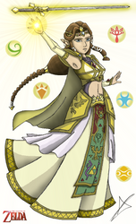 Sovereign Princess of Hyrule by AndsportsART