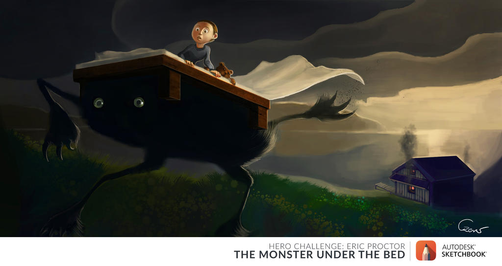 The Monster Under the Bed by AgataCzerw