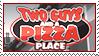 Two Guys Pizza Stamp by Pakaku