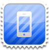 Rounded iPhone Stamp by Pakaku