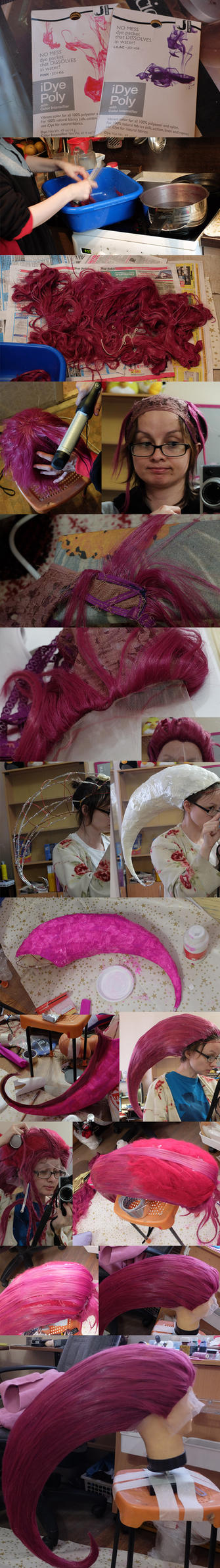 Jessie wig tutorial by KyoudaiCosband
