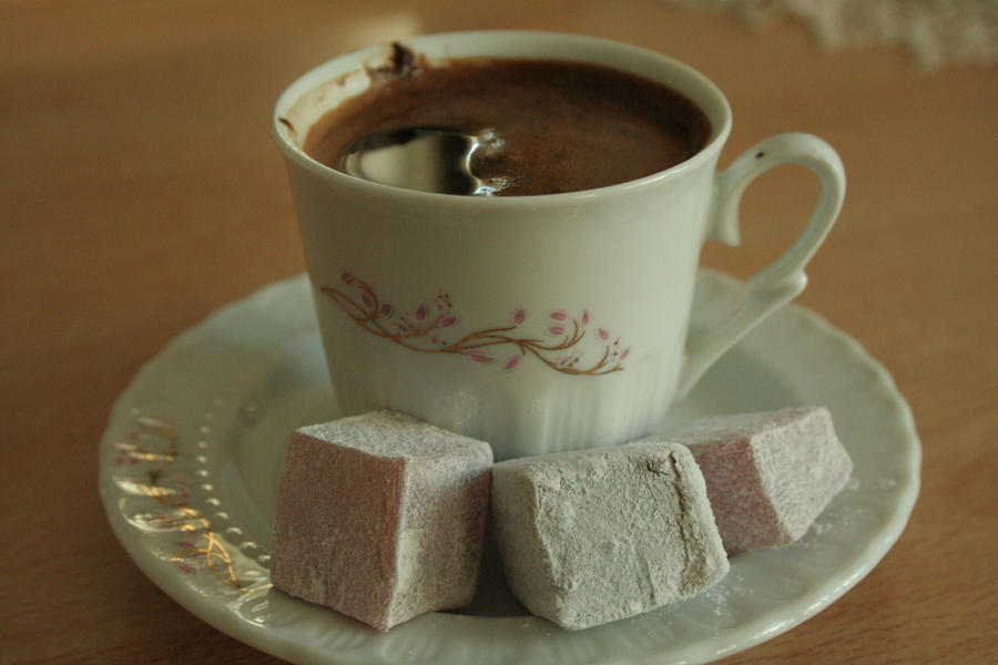 coffee and turkish delight by adolina