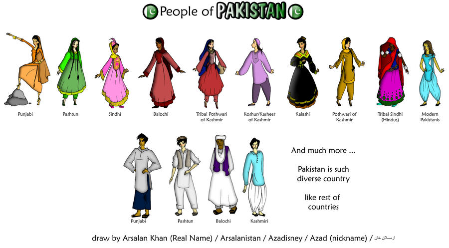 People of Pakistan by ArsalanKhanArtist