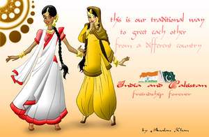 India and Pakistan Friendship by ArsalanKhanArtist
