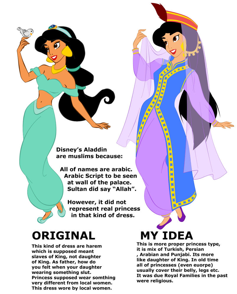 Princess Jasmine's dress idea by ArsalanKhanArtist