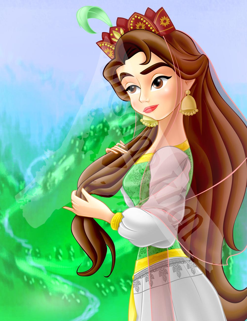 Portrait of Princess Maariyah by ArsalanKhanArtist on ...