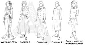 Muslim Dresses by ArsalanKhanArtist