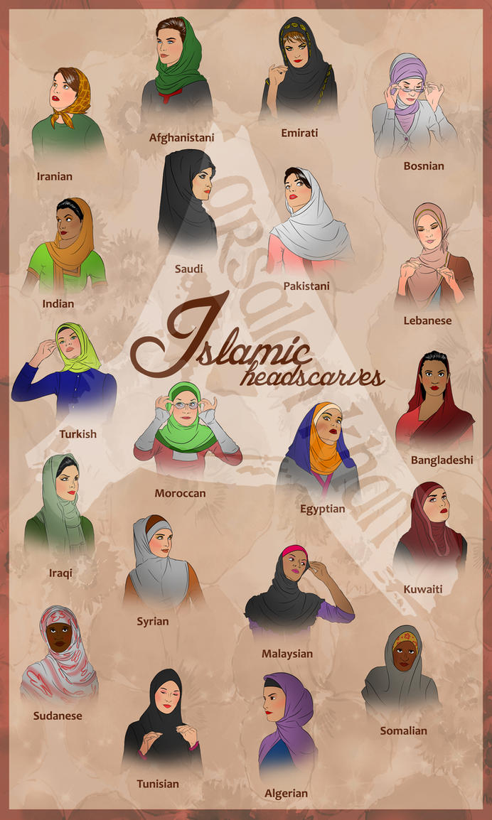 Islamic Headscaves by ArsalanKhanArtist
