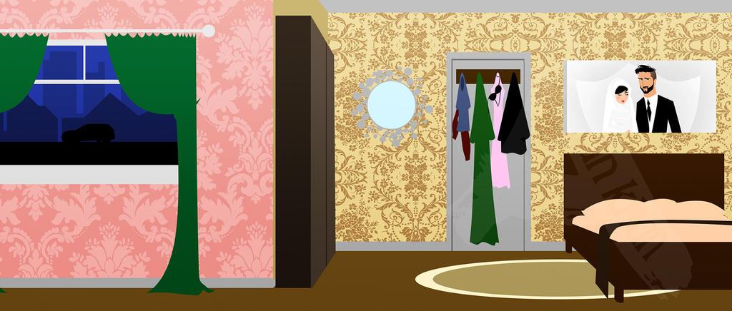 Bedroom Background by ArsalanKhanArtist
