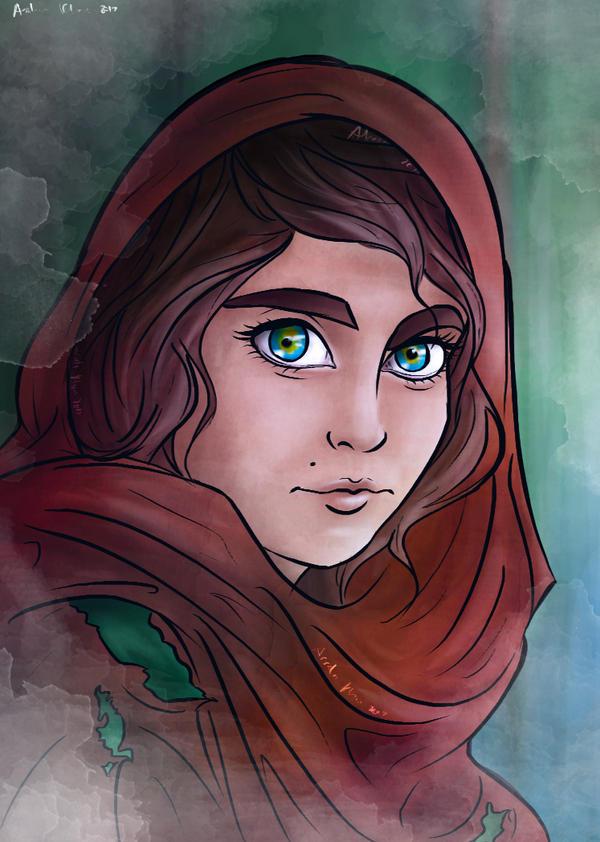 Afghan Girl by ArsalanKhanArtist