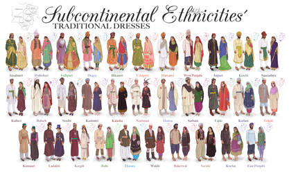 Subcontinental Ethnicities' Traditional Dresses
