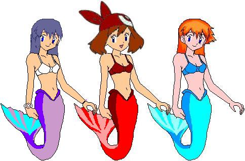 Misty May and Dawn Mermaids by mikeyvenomfrog