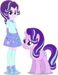 EqG Starlight Glimmer and Pony Starlight Glimmer