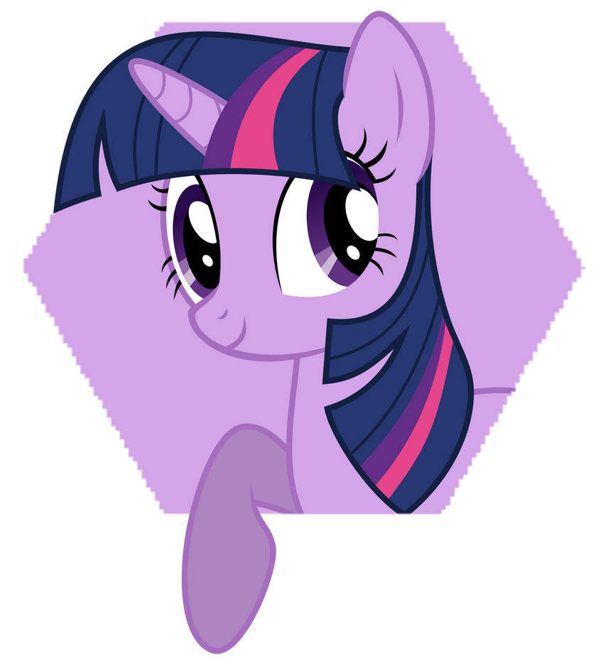 Hexagon Icon Pop-out (Twilight Sparkle) by GGalleonAlliance