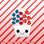 kawaii berry frozen yogurt