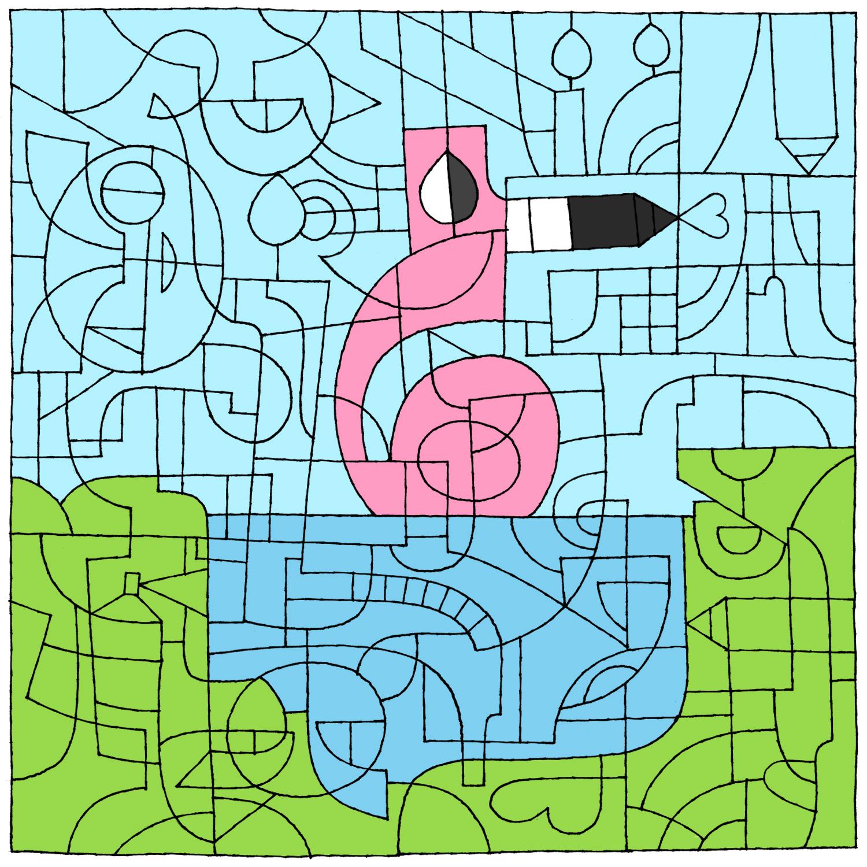 dA 16th birthday flamingo by to-much-a-thing