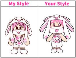 Style collab entry: Fluffy Bunny Boy