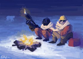 Team Fortress 2: Enigeer + Pyro